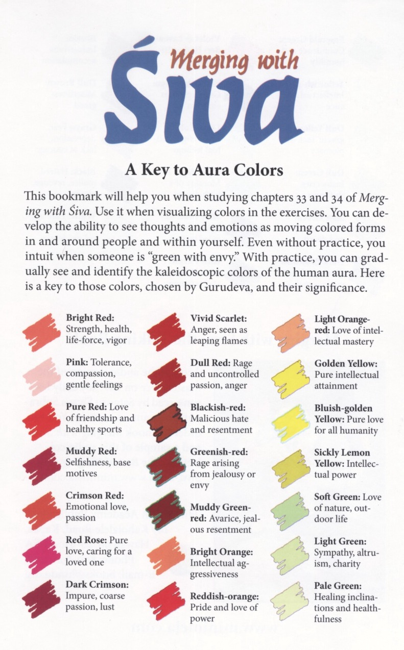 A Key to the Aura Colors